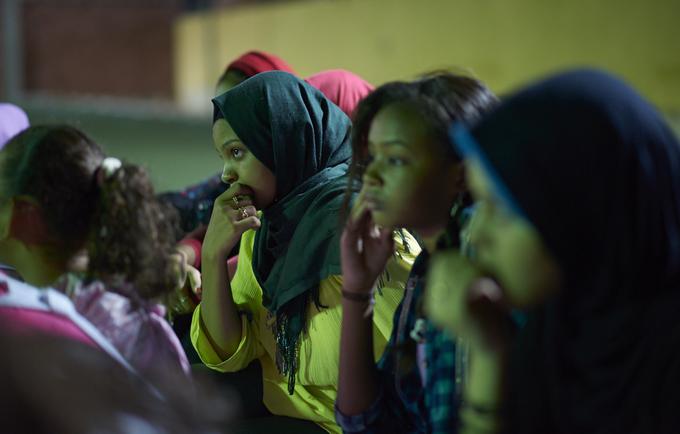 Girls in Egypt participate in discussions held by the Y-PEER youth network, which uses peer education and activities like theatre and games to educate adolescents about sexual and reproductive health, gender-based violence and harmful practices including FGM. © Luca Zordan for UNFPA